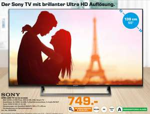 [Lokal Saturn Hamburg/Norderstedt] Sony KD-55XE8096 Fernseher 139 cm (55 Zoll) (4K Ultra HD, Android-TV, X-Reality PRO, Triluminos Display, 10 Bit) für 749,-€
