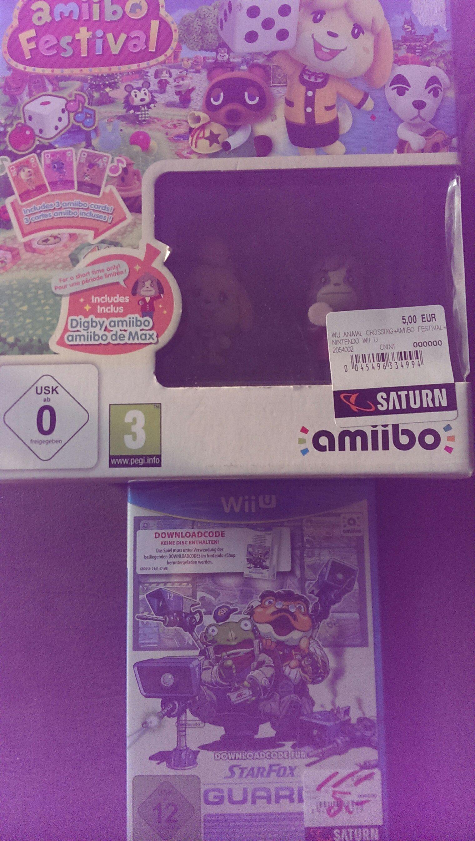 [Lokal Saturn Stuttgart Schlossplatz] Amiibo Festival bzw. Starfox Guard für WiiU jeweils 5€