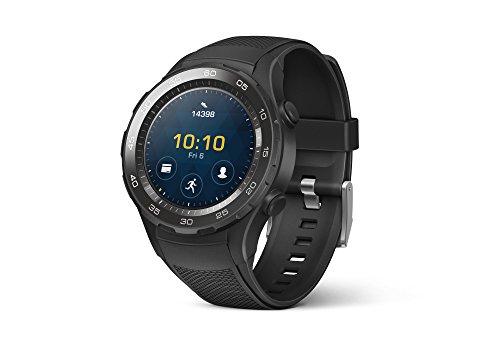HUAWEI WATCH 2 (Bluetooth) Smartwatch mit schwarzem Sportarmband (NFC, Bluetooth, WLAN, Android Wear™ 2.0) schwarz @amazon.es