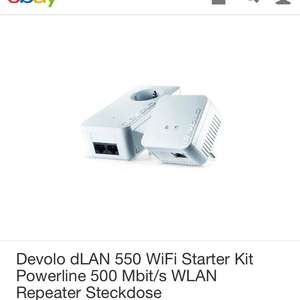 Devolo dLAN 550 Wifi Starter Kit bei Ebay Wow