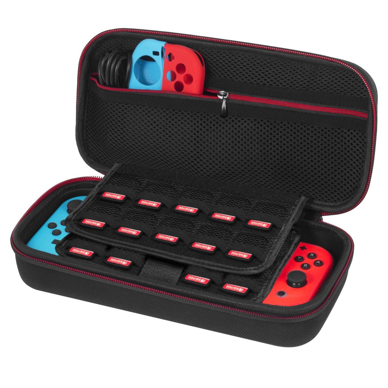 Nintendo Switch Tasche, Platz für 19 Spiele, Wechselstromadapter und weitere Zubehör für 12,99 Euro @Amazon