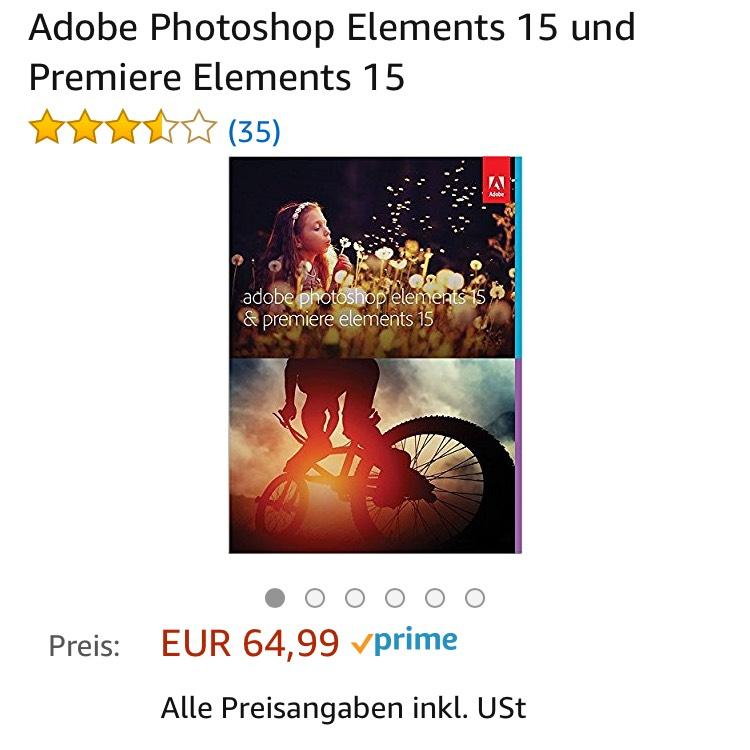 Adobe Photoshop und Premiere Elements 15 bei Amazon