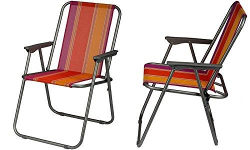 Gartenstuhl  einfach zusammenklappbar - praktischer Klappstuhl, Farbe:rot @amazon 12,99€