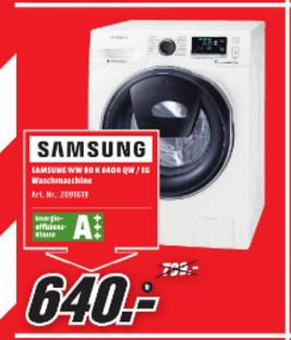 [Lokal Braunschweig] SAMSUNG WW80K6404QW/EG Waschmaschine 485€ mit CB