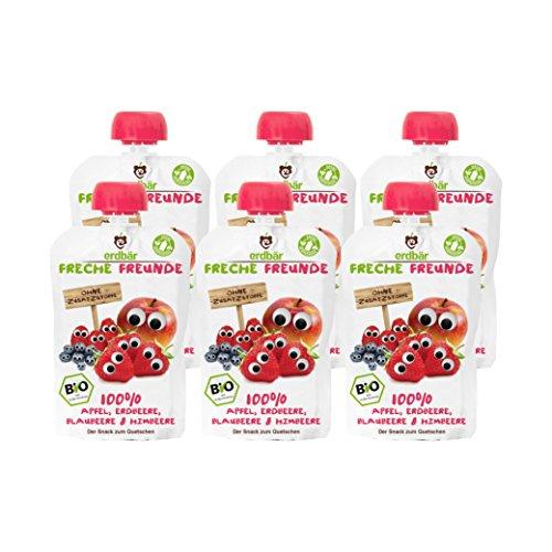 Verschiedene Sorten Freche Freunde Frucht-Quetschies im 6er Pack für 3,63€ als Plusprodukt oder 3,46€ im Sparabo bei Amazon
