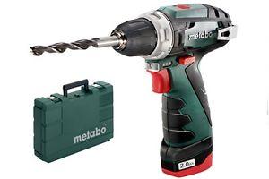 Metabo PowerMaxx BS Basic Akku-Bohrschrauber 2. Wahl mit 2x 2,0AH Akkus, Ladegerät und Koffer / weitere Angebote in der Dealbeschreibung