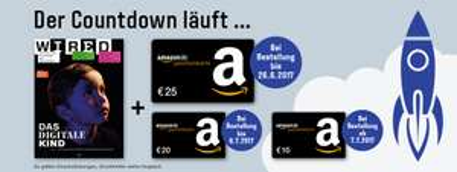 Jahresabo WIRED für rechnerisch 2€ (durch 25€ Amazon Gutschein)
