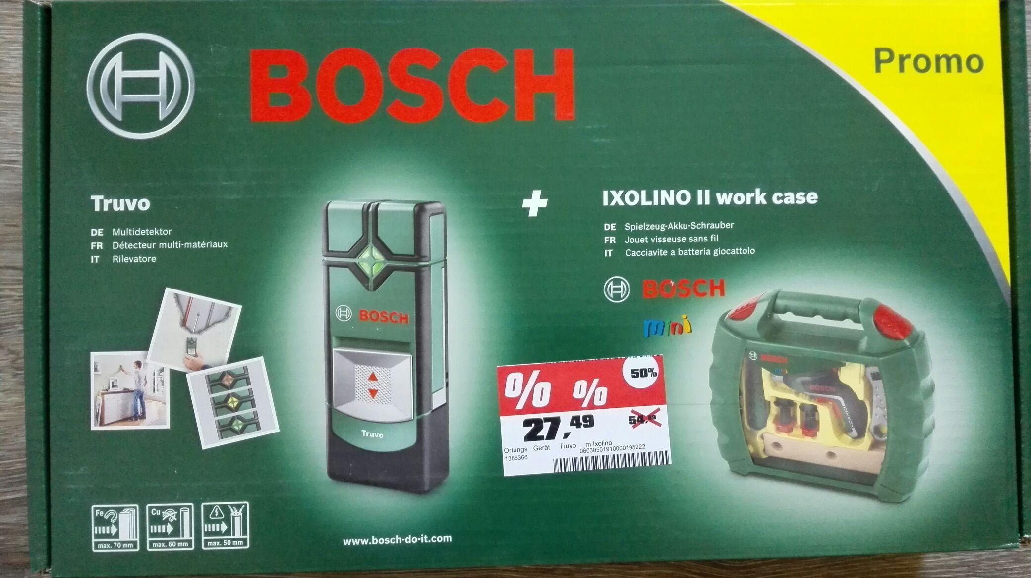 OBI Schwelm: Bosch Ortungsgerät Truvo + ixolino Kinderakkuschrauber