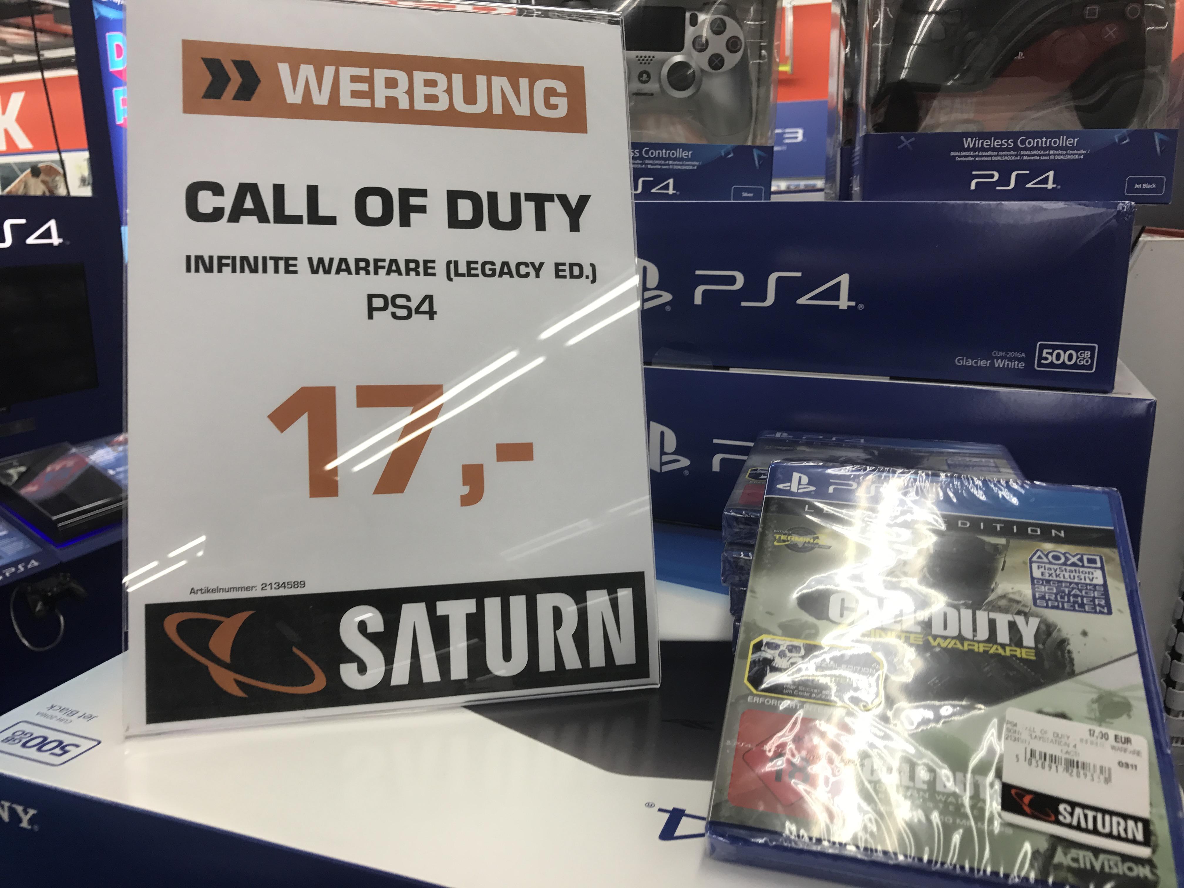 [lokal] Saturn Hennef: PS4 Call of Duty®: Infinite Warfare (Legacy Edition) für 17€