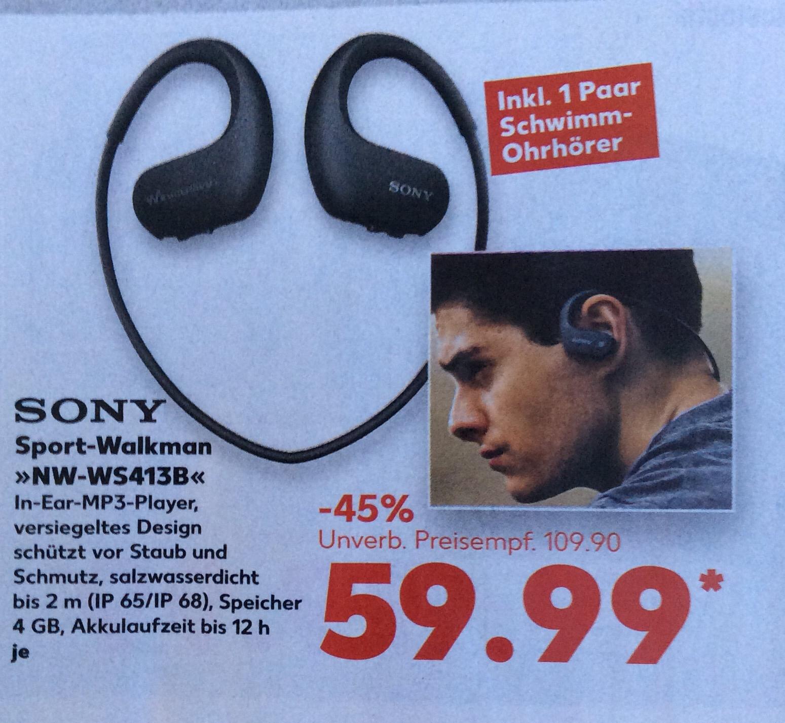 [offline] Sony NW-WS413B Sport-Walkman 4GB @ Kaufland