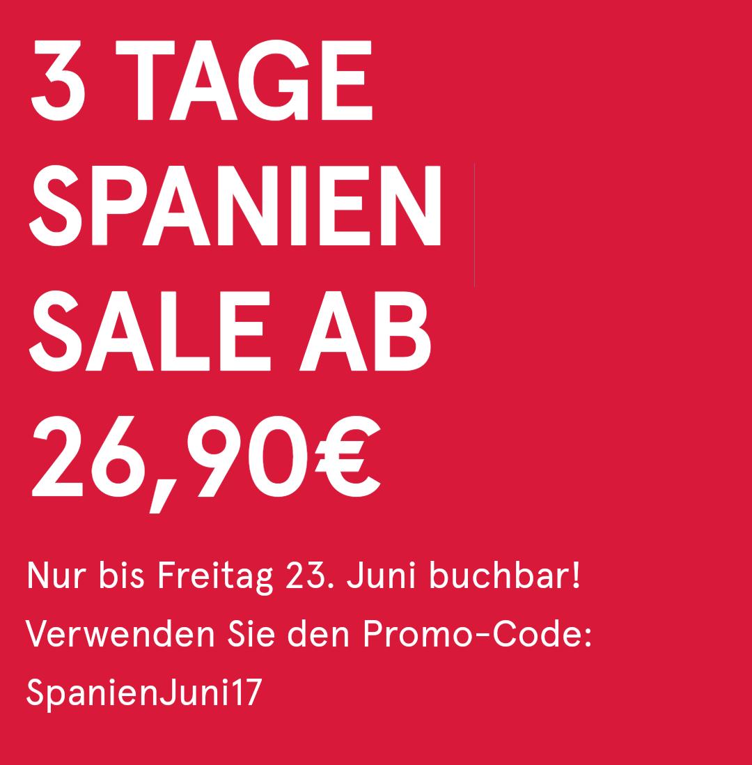 [Online] Norwegian: Flüge nach Spanien ab 26,90 €