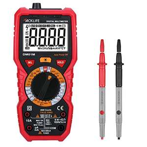 Tacklife DM01M Advanced Version Digital Multimeter mit beleuchtetem LCD [18,99€ anstatt 29,99€]