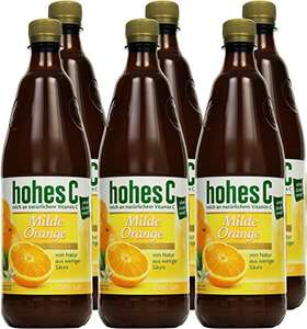 [Amazon Plus Produkt] Hohes C Milde Orange - 100% Saft, 6er Pack (6 x 1 l)