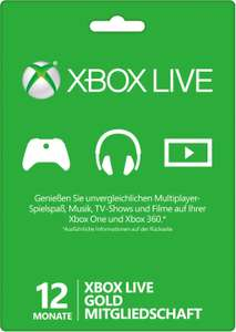 Xbox Live Gold 12 oder 24 Monate (Email)