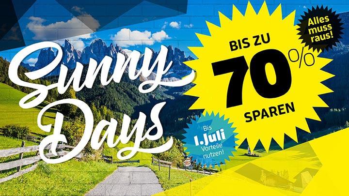 [Sport Bittl] Sunny Days: Abverkauf mit bis zu 70% Rabatt