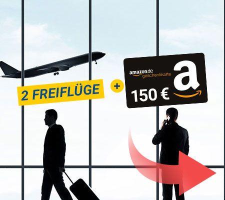 """150€ Amazon Gutscheine + 2 Freiflüge für das Postbank """"Giro extra plus"""" für 3*9,90€"""