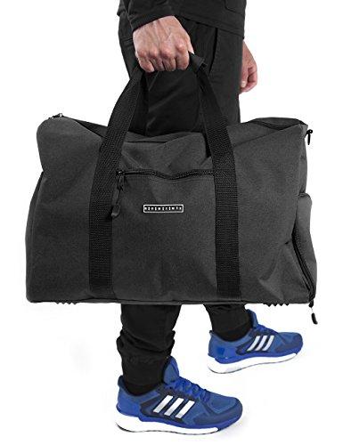 Ronin's Canvas Weekender Reisetasche Sporttasche mit Schuhfach für 4,99€ statt 34,99€