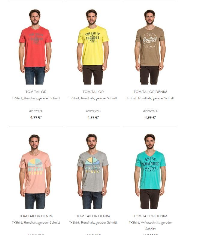 B4F: Tom Tailer & Bench Shirts ab 4,99€ - Versandkostenfrei bis 6.30 Uhr