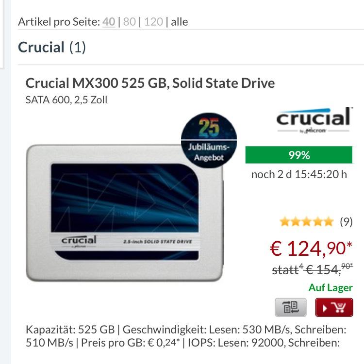 Crucial MX300 525 GB @alternate.de