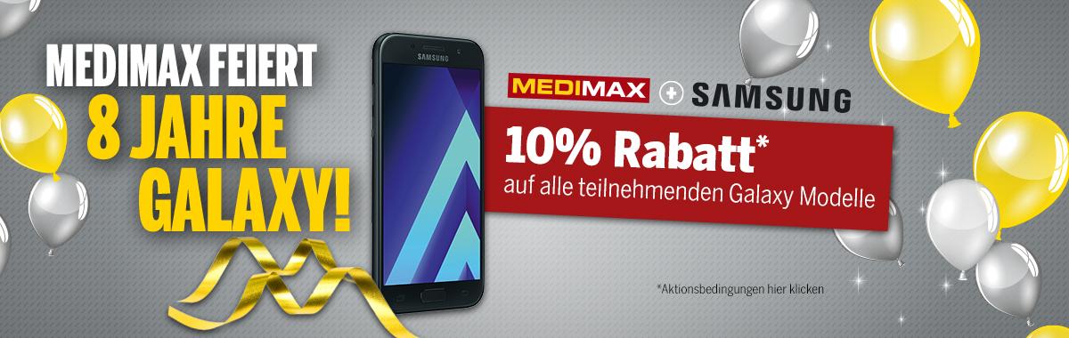 10% auf diverse Samsunghandys, z.B. A3 2017 für 215,10€ (Online und Offline)