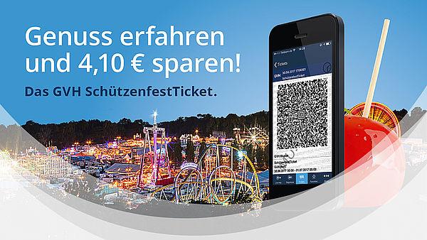 [Lokal: Hannover] GVH-Tages-Ticket (3 Zonen) zum Schützenfest 30.6. - 9.7.2017