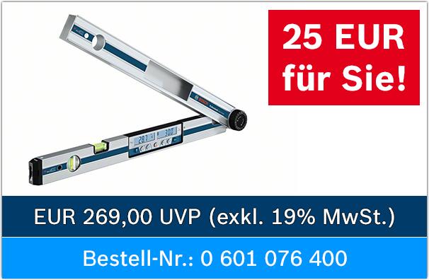 Bosch Professional GAM 270 MFL für effektiv 149,22 € [Lokal] Toom Preisgarantie und -20% Laviva Coupon und -25€ Gewerbe-Cashback