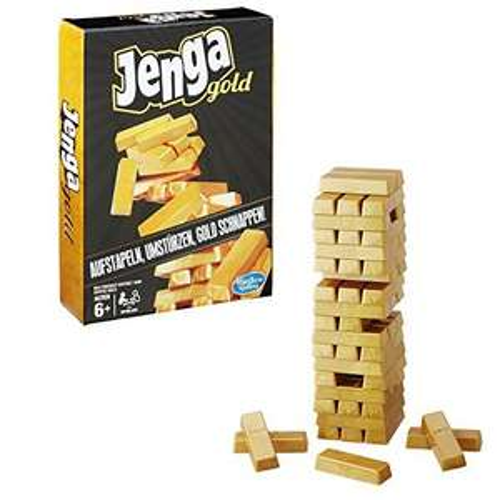 Hasbro Spiele B7430EU4 – Jenga Gold, Kinderspiel für 4,72€ [Plus Produkt]