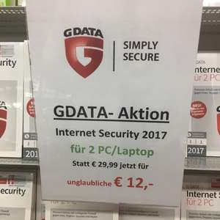 G Data Internet Security 2017 @ Saturn Siegen