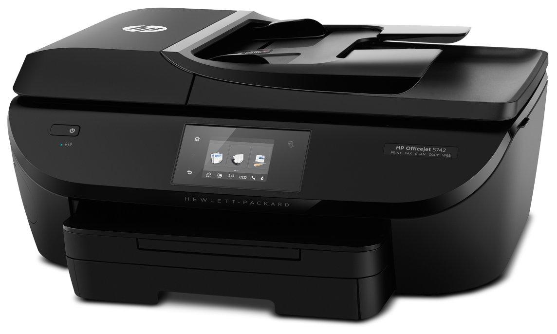[Medion] HP Officejet 5742 All-In-One Netzwerk Drucker mit 6,7 cm TouchSmart Farbdisplay, Speicherkartensteckplatz, USB 2.0