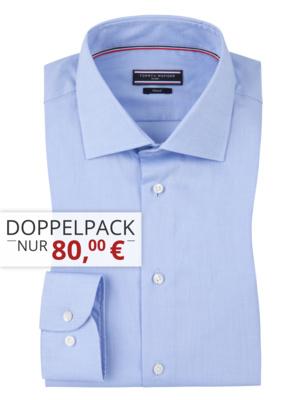 Tommy Hilfiger Businesshemden für 36,66€ pro Stück beim Kauf von 3 Hemden bei Hirmer - viele Farben & Größen, ohne Versandkosten