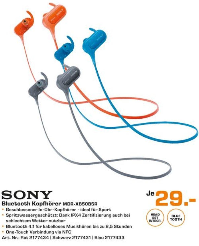 [SATURN] Sony MDR-XB50BSR kabelloser Sport-Kopfhörer