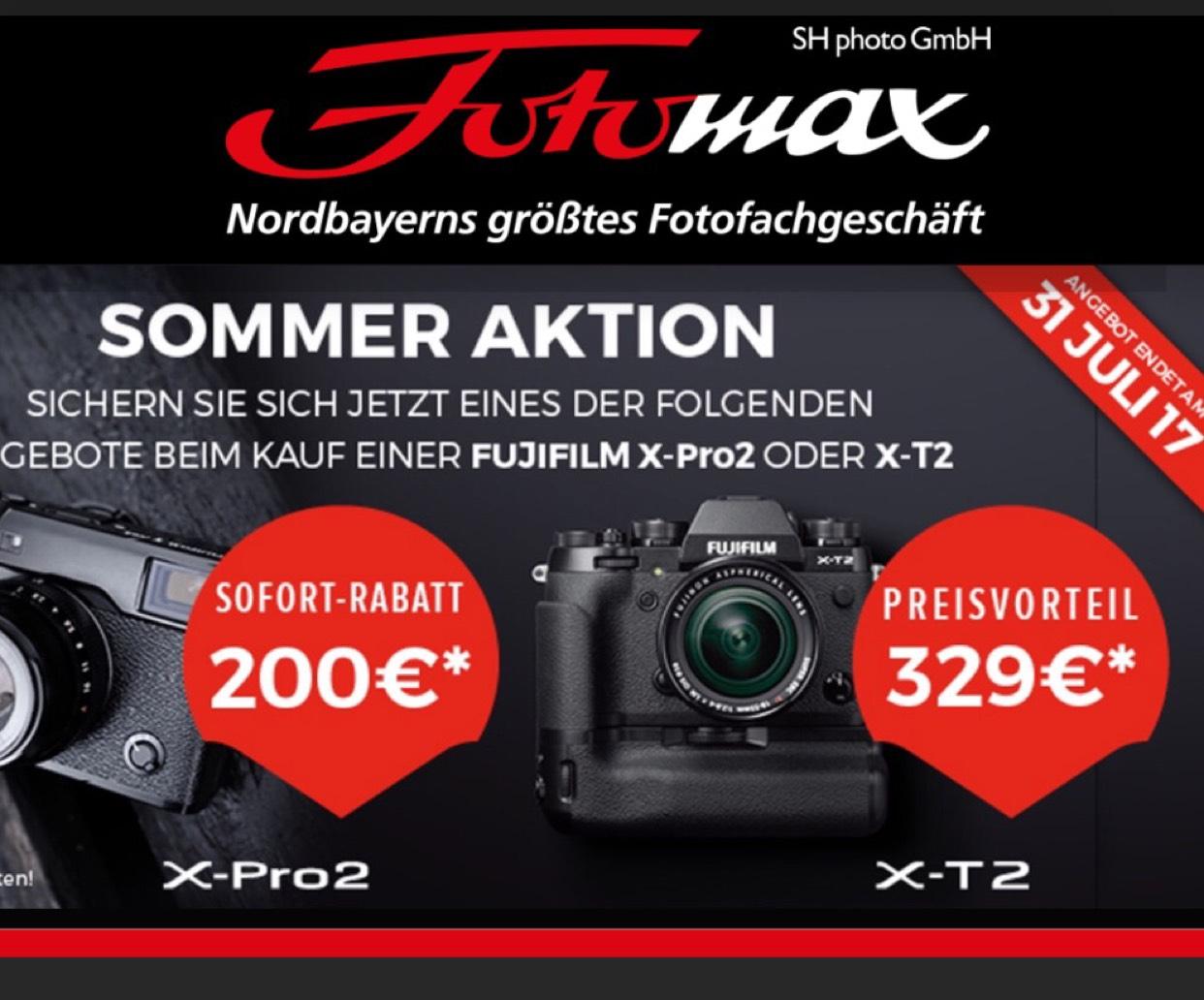 Fujifilm X-T2 inkl. 18-55mm 1:2,8-4,0 schwarz + Handgriff VPB-XT2 GRATIS
