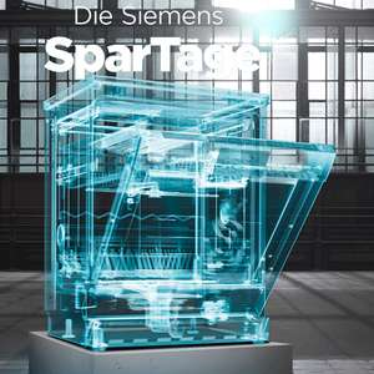 Siemens SparTage bei ao - z.B. vollintegrierbarer Geschirrspüler ab 299 € oder iQ300 Kühl-/Gefriekombination für 399 €