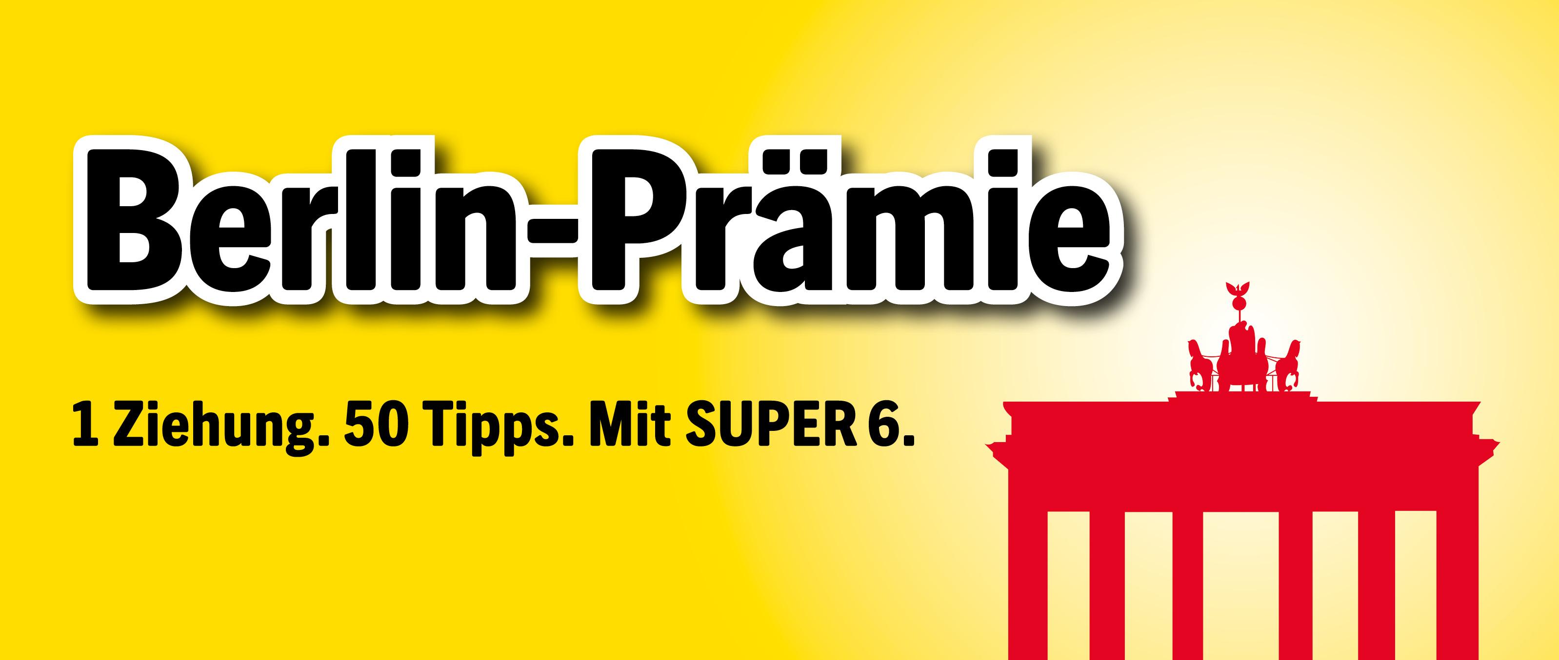 Lotto Berlin - Berlin Prämie (Tippfeldpreis statt 1,-€ für 0,77€)