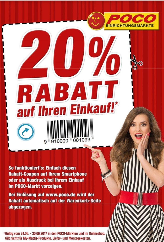 POCO  20% Rabatt Coupon  Bundesweit offline & Online-Shop