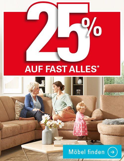 Möbel Höffner 25% Rabatt auf fast alles online und offline (Studenten bekommen 5% mehr)