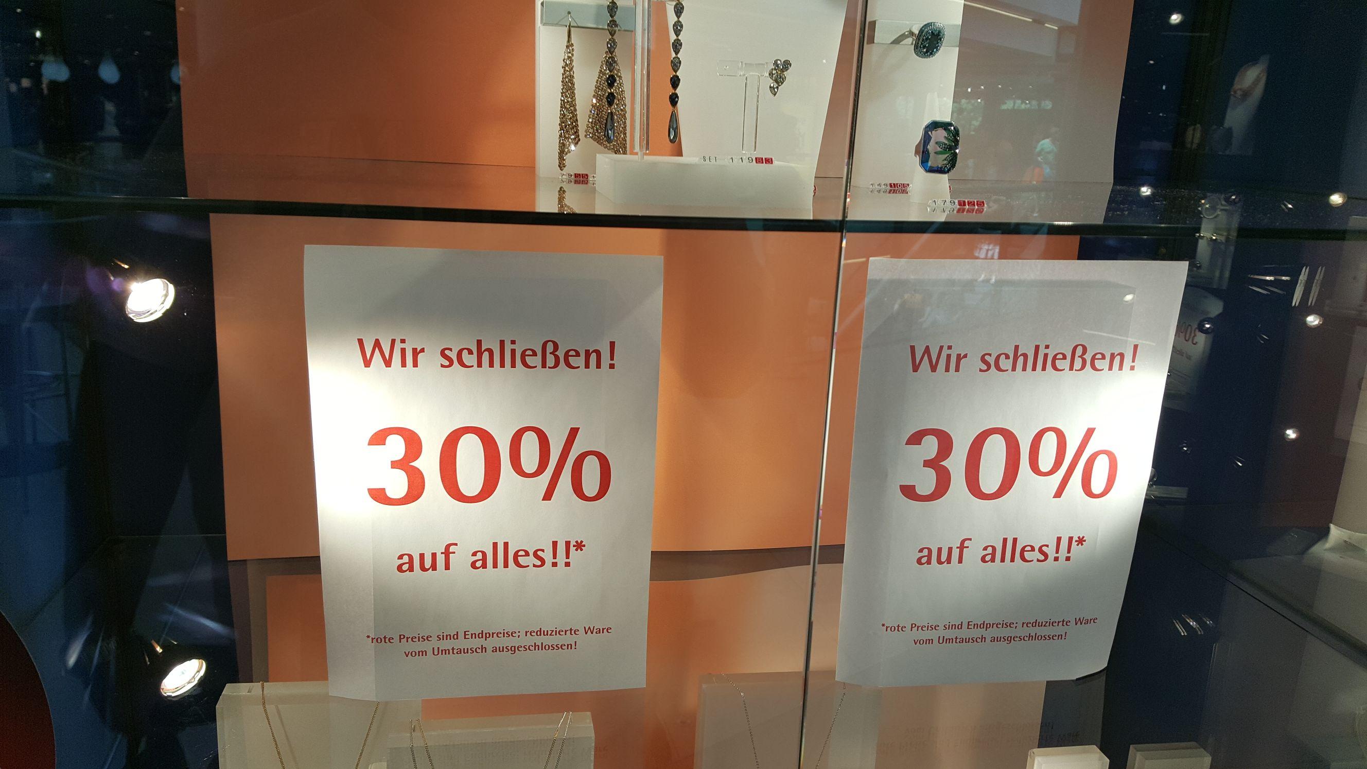 [Lokal Erlangen] 30% auf alles im Swarovski Laden
