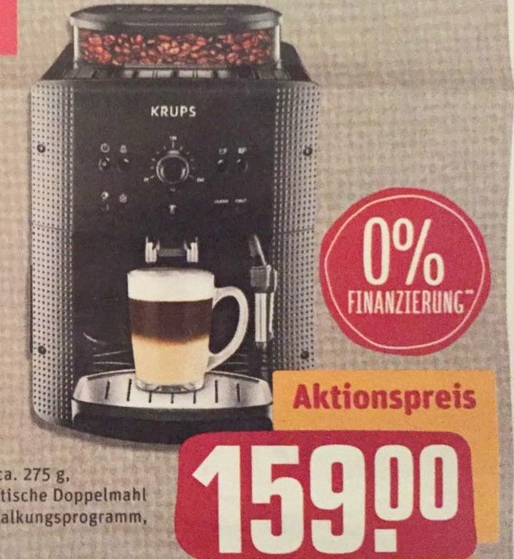 KRUPS Espresso-Kaffee-Vollautomat >>EA 810B / 8105<< für nur 159,00€ im REWE CENTER Rhein-Main Gebiet (Lokal [eventuell bundesweit]). Durch Payback sogar effektiv für 151,35€ (->weitere Information in der Beschreibung)