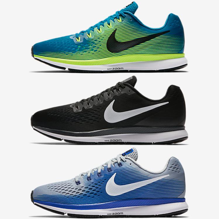 Nike Air Zoom Pegasus 34 in 3 Farben und Größen 40-46 [20% Gutschein @ eBay.de]