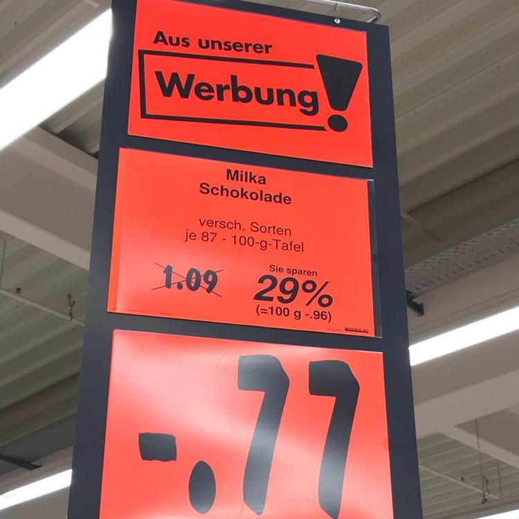 Lokal!? Berlin Kaufland Milka Schokolade reduziert 0,77