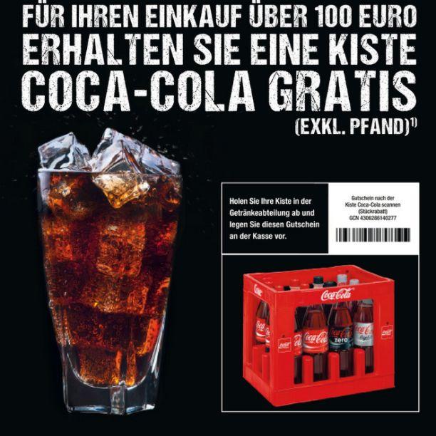 [METRO] Eine Kiste Coca-Cola gratis  bei einem Einkauf ab 100€ am Samstag den 1.07.