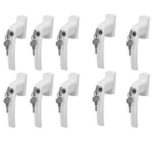 10er Set Sicherheits Fenstergriffe abschließbar Weiß Stiftlänge 35mm @ebay 26,90€