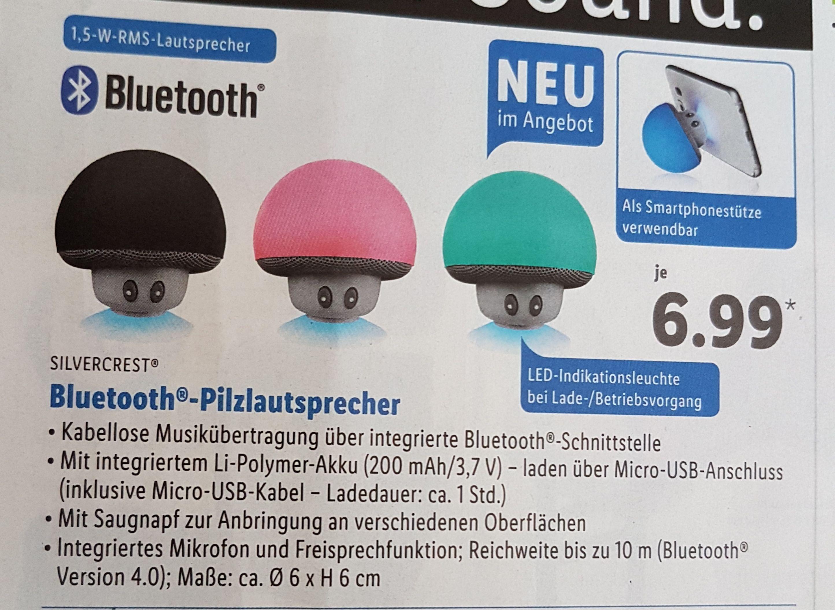 Bluetooth- Pilzlautsprecher bei Lidl