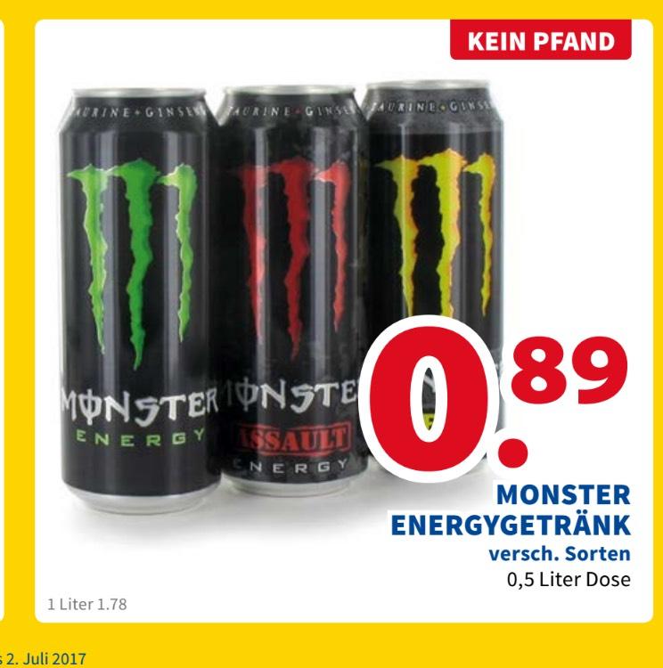 (LOKAL) Venlo[NL] Monster Energy alle Sorten 0,89€ kein Pfand