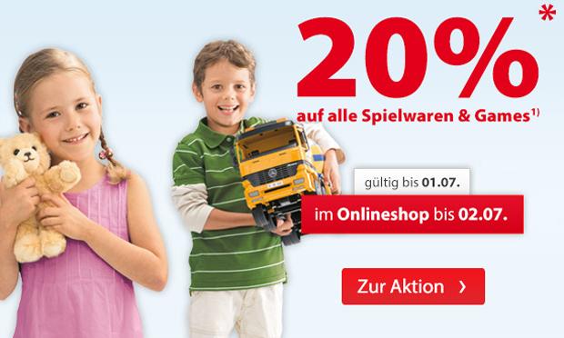 [Müller] 20% Rabatt auf alle Spielwaren und Games