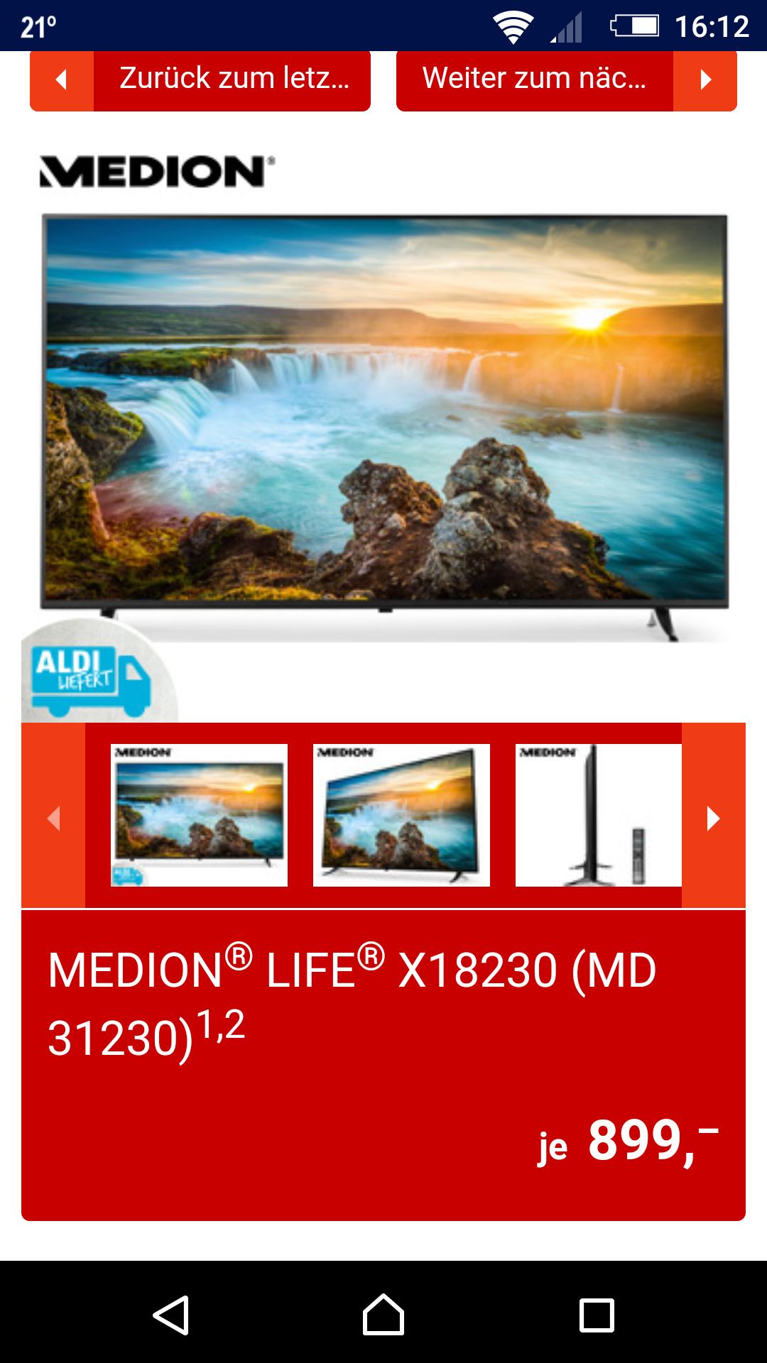 """Aldi Süd - Medion 65"""" UHD Smart TV - Versandkostenfrei"""