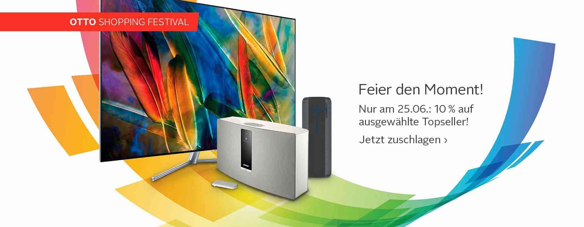 10% Rabatt bei ausgewählten TV & Audio Geräten  bei OTTO...z.B. SONOS Playbase für 719,10Euro!!