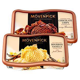 [bundesweit] 900 ml Mövenpick Eis, verschiedene Sorten für 2 Euro @ Rewe