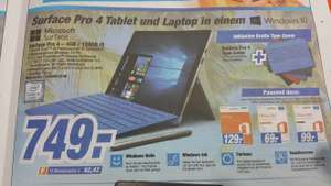 Lokal (Expert Langenhagen )Surface Pro 4 Basis Version 4 GB RAM / 128 GB SSD, Intel Core i5, mit Stift und Type Cover
