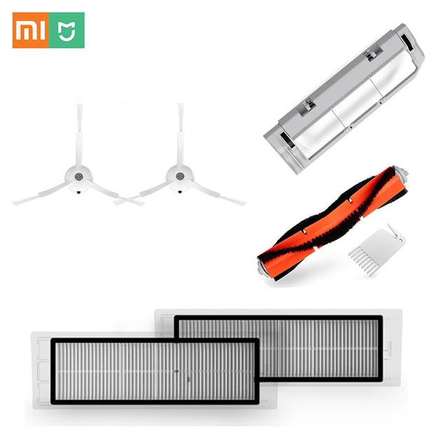 Zubehör-Paket für Xiaomi Vacuum staubsaugerroboter, 2x HEPA-Filter, 1 Bürste, 2x Seitenbürste, Staubbehälter